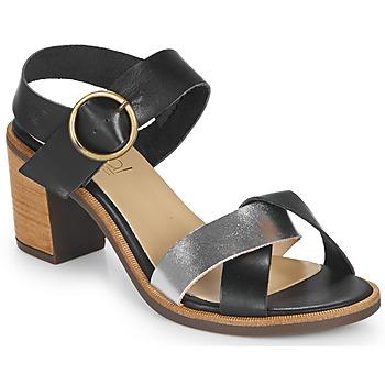 Zapatos Mujer Sandalias Casual Attitude MILLA Negro / Plateado