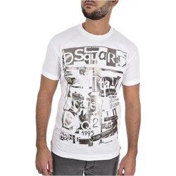 textil Hombre Camisetas manga corta Dsquared T-Shirts S74GD0531 - Hombres blanco