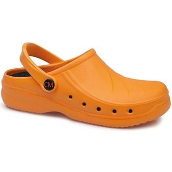 Zapatos Zuecos (Clogs) Calzamedi DE TRABAJO ANATOMICO NARANJA