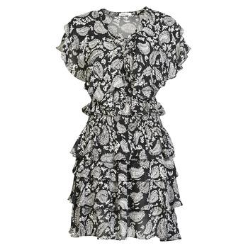 textil Mujer Vestidos cortos Replay  Negro / Blanco