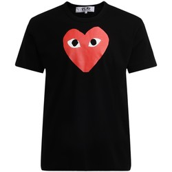 textil Hombre Camisetas manga corta Comme Des Garcons Camiseta de hombre  negra con corazón Negro