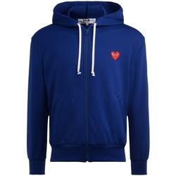 textil Hombre sudaderas Comme Des Garcons Sudadera  azul con corazón rojo Azul