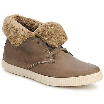 Zapatos Zapatillas altas Victoria SAFARI ALTA PIEL TINTADA PELO Topotea
