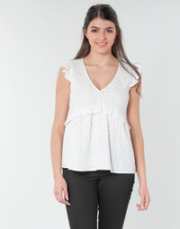 textil Mujer Tops / Blusas Betty London MOUDINE Blanco / Dorado