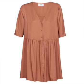 textil Mujer vestidos cortos Betty London MOUDENE Marrón