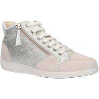 Zapatos Mujer Zapatillas altas Geox D6468C 0KY22 D MYRIA Plateado