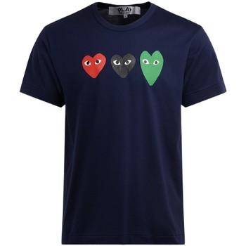 textil Hombre Camisetas manga corta Comme Des Garcons Camiseta  de algodón azul con Azul