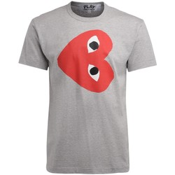 textil Hombre camisetas manga corta Comme Des Garcons Camiseta de hombre  gris con corazón Gris