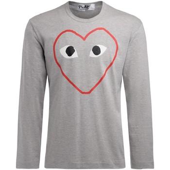 textil Hombre Camisetas manga larga Comme Des Garcons Camiseta de hombre  manga larga gris Gris