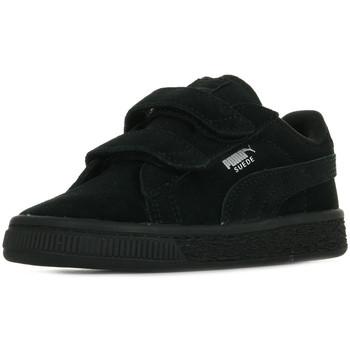 Zapatos Niños Zapatillas bajas Puma Suede 2 Straps Inf Negro