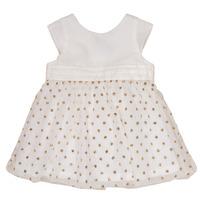 textil Niña vestidos cortos Petit Bateau FAVORITE Blanco / Dorado
