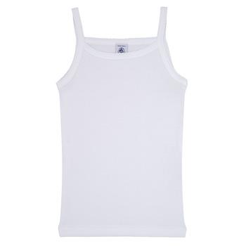 textil Niña Camisetas sin mangas Petit Bateau 53295 Blanco