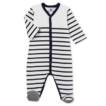 textil Niño Pijama Petit Bateau FUT Blanco / Azul