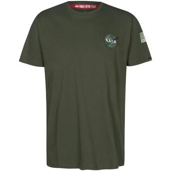 textil camisetas manga corta Alpha NASA Space Shuttle Tee Verde