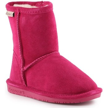 Zapatos Niña Botas de nieve Bearpaw Emma Toddler Zipper 608TZ-671 Pom Berry rosado