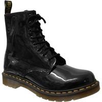 Zapatos Mujer Botas de caña baja Dr Martens 1460 w Barniz negro
