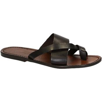 Zapatos Hombre Sandalias Gianluca - L'artigiano Del Cuoio 545 U MORO CUOIO Testa di Moro