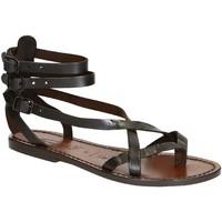 Zapatos Mujer Sandalias Gianluca - L'artigiano Del Cuoio 564 D MORO CUOIO Testa di Moro