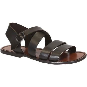 Zapatos Hombre Sandalias Gianluca - L'artigiano Del Cuoio 508 U MORO CUOIO Testa di Moro