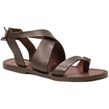 Zapatos Mujer Sandalias Gianluca - L'artigiano Del Cuoio 571 D MORO CUOIO Testa di Moro