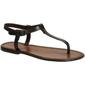 Zapatos Mujer Sandalias Gianluca - L'artigiano Del Cuoio 532 D MORO CUOIO Testa di Moro