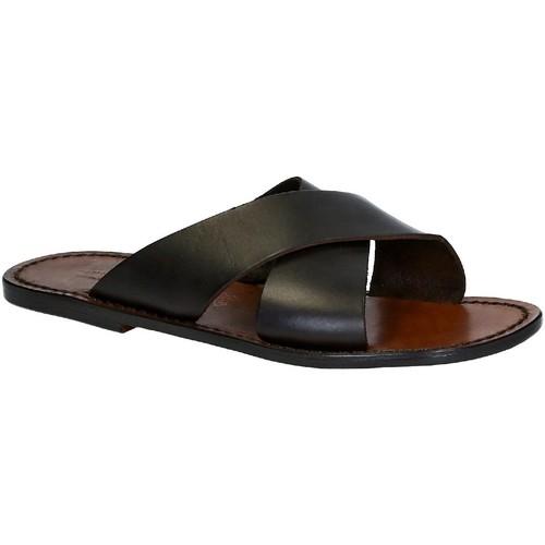 Zapatos Hombre Zuecos (Mules) Gianluca - L'artigiano Del Cuoio 560 U MORO CUOIO Testa di Moro
