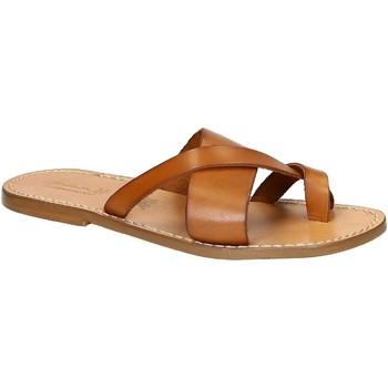 Zapatos Hombre Chanclas Gianluca - L'artigiano Del Cuoio 545 U CUOIO CUOIO Cuoio