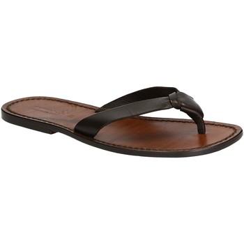 Zapatos Hombre Chanclas Gianluca - L'artigiano Del Cuoio 580 U MORO CUOIO Testa di Moro