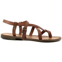 Zapatos Mujer Sandalias Gianluca - L'artigiano Del Cuoio 530 D CUOIO CUOIO Cuoio