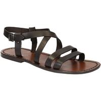 Zapatos Hombre Sandalias Gianluca - L'artigiano Del Cuoio 531 U MORO CUOIO Testa di Moro