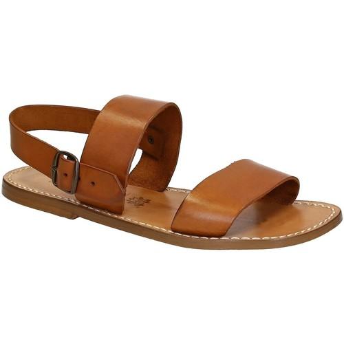 Zapatos Hombre Sandalias Gianluca - L'artigiano Del Cuoio 500 U CUOIO CUOIO Cuoio