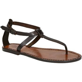 Zapatos Mujer Sandalias Gianluca - L'artigiano Del Cuoio 582 D MORO CUOIO Testa di Moro