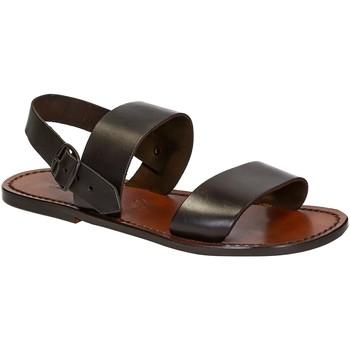 Zapatos Hombre Sandalias Gianluca - L'artigiano Del Cuoio 500 U MORO CUOIO Testa di Moro