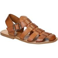 Zapatos Hombre Sandalias Gianluca - L'artigiano Del Cuoio 502 U CUOIO CUOIO Cuoio