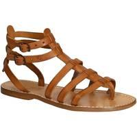 Zapatos Mujer Sandalias Gianluca - L'artigiano Del Cuoio 506 D CUOIO CUOIO Cuoio