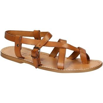 Zapatos Hombre Sandalias Gianluca - L'artigiano Del Cuoio 530 U CUOIO CUOIO Cuoio