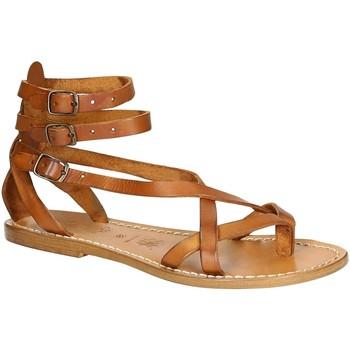 Zapatos Mujer Sandalias Gianluca - L'artigiano Del Cuoio 564 D CUOIO CUOIO Cuoio