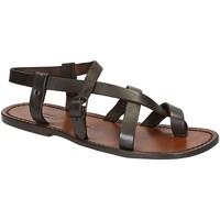 Zapatos Hombre Sandalias Gianluca - L'artigiano Del Cuoio 530 U MORO CUOIO Testa di Moro