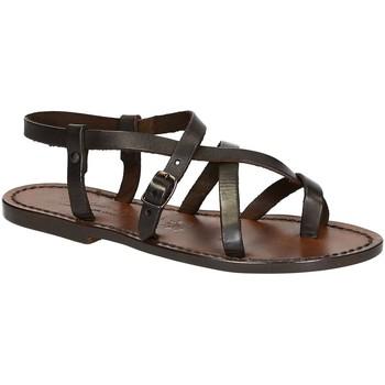 Zapatos Mujer Sandalias Gianluca - L'artigiano Del Cuoio 530 D MORO CUOIO Testa di Moro
