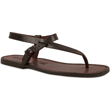 Zapatos Hombre Sandalias Gianluca - L'artigiano Del Cuoio 592 U MORO CUOIO Testa di Moro