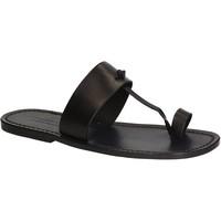 Zapatos Hombre Chanclas Gianluca - L'artigiano Del Cuoio 554 U NERO CUOIO nero