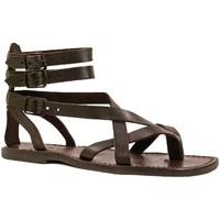 Zapatos Hombre Sandalias Gianluca - L'artigiano Del Cuoio 564 U MORO CUOIO Testa di Moro