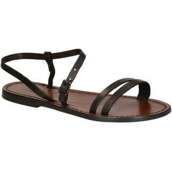 Zapatos Mujer Sandalias Gianluca - L'artigiano Del Cuoio 591 D MORO CUOIO Testa di Moro