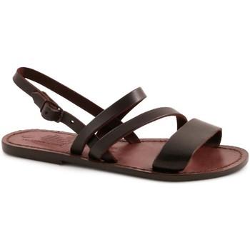 Zapatos Mujer Sandalias Gianluca - L'artigiano Del Cuoio 598 D MORO CUOIO Testa di Moro