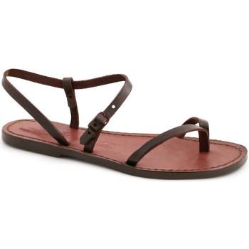 Zapatos Mujer Sandalias Gianluca - L'artigiano Del Cuoio 590 D MORO CUOIO Testa di Moro