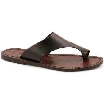 Zapatos Hombre Zuecos (Mules) Gianluca - L'artigiano Del Cuoio 521 D MORO CUOIO Testa di Moro