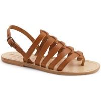 Zapatos Mujer Sandalias Gianluca - L'artigiano Del Cuoio 576 D CUOIO LGT-CUOIO Cuoio