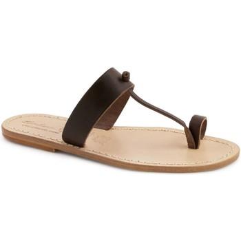 Zapatos Mujer Zuecos (Mules) Gianluca - L'artigiano Del Cuoio 554 U MORO LGT-CUOIO Testa di Moro