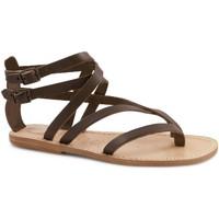 Zapatos Mujer Sandalias Gianluca - L'artigiano Del Cuoio 574 D MORO LGT-CUOIO Testa di Moro