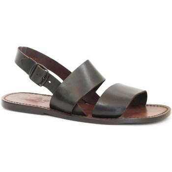 Zapatos Mujer Sandalias Gianluca - L'artigiano Del Cuoio 500X U MORO CUOIO Testa di Moro